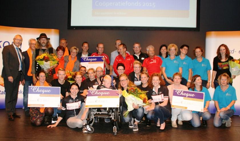 De prijswinnaars bij het Coöperatiefonds. Foto: PR