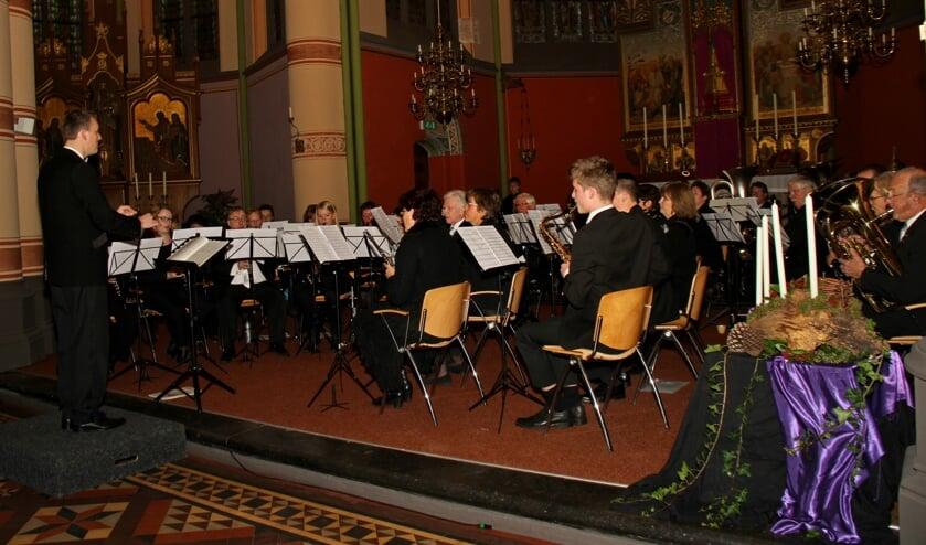 Muziekvereniging Jubal gaf haar concert in de St. Martinuskerk. Foto: Liesbeth Spaansen
