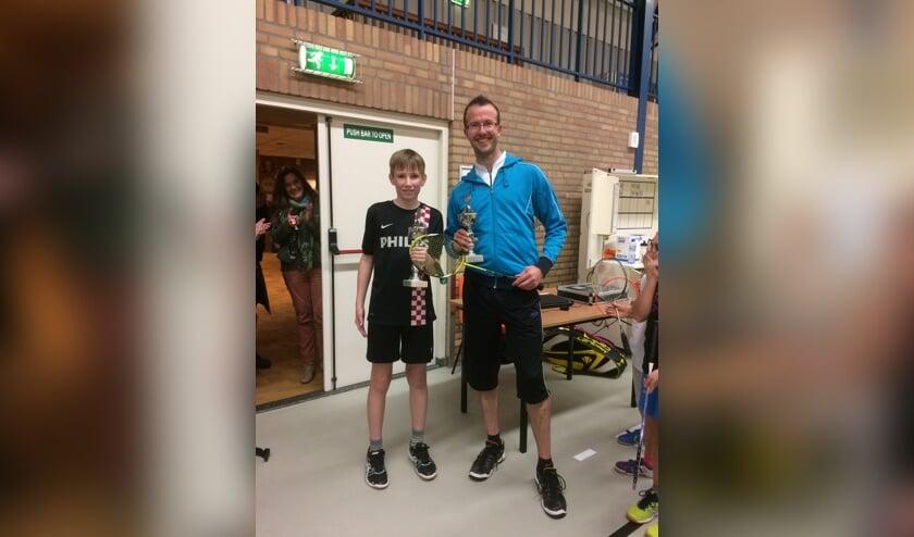Trotse winnaars van het generatieklooftoernooi: Tom Besselink en Jeroen Geurts. Foto: PR