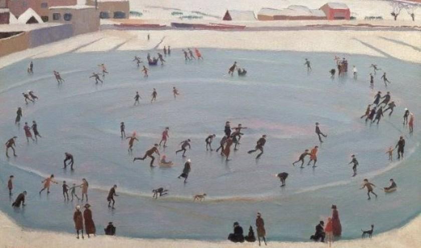 Schilderij 'Schaatsenrijders' is online te zien als filmpje. Foto: PR