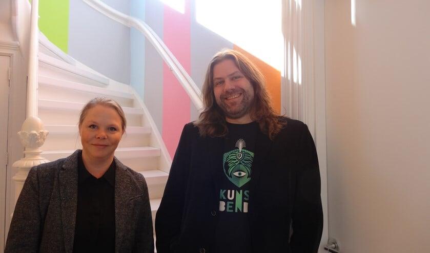 Jette Janssen en Johan Godschalk in Villa Mondriaan, dat onderdeel van het bijzondere vijftigste project van de IDeefabriek