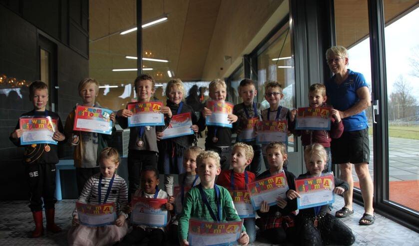 Alle kinderen zijn geslaagd. Foto: PR