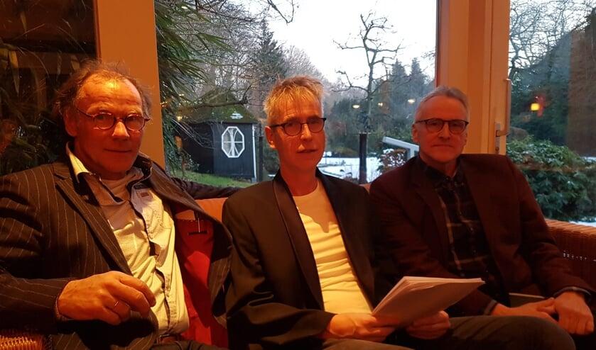 Van links naar rechts: Henk Beunk, Mark Ebbers en Joop Koopmanschap. Foto: Kyra Broshuis
