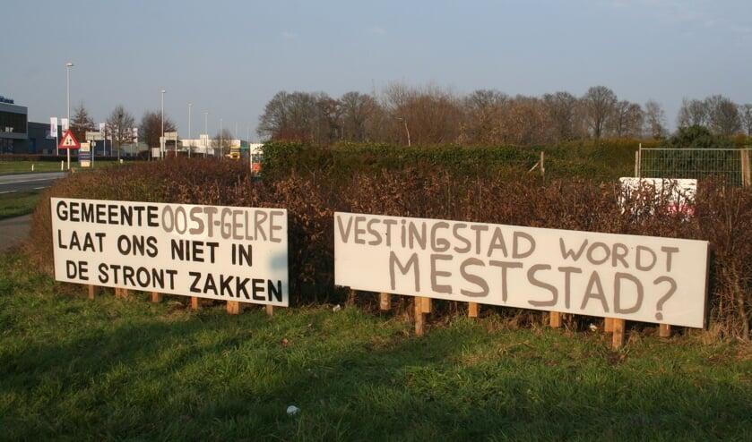 De plannen voor de megamestvergister zorgen al vanaf  het begin voor onrust bij omwonenden. Foto: Kyra Broshuis/archief Achterhoek Nieuws
