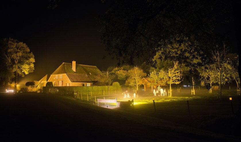 De familie Buunk werd evenals vier jaar geleden winnaar in de categorie mooiste verlichting. Foto: PR.
