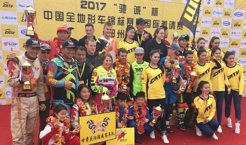 Huldiging van de deelnemers in China. Foto: PR