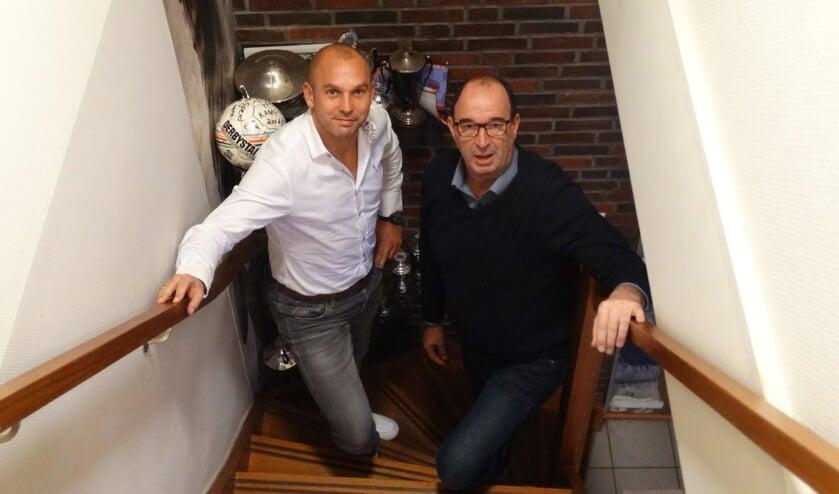 Jody Köhler en Marcel Melgers hopen op een mooi voetbalfeestje. Foto: Willy Hermans