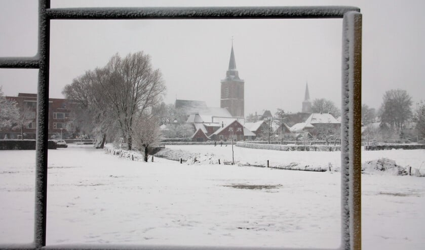 Het Mondriaan - gezicht op Winterswijk was vorige week opeens minder kleurrijk, maar nog wel prachtig.  Nu dus beschermd dorpsgezicht. Foto: Ad ter Welle