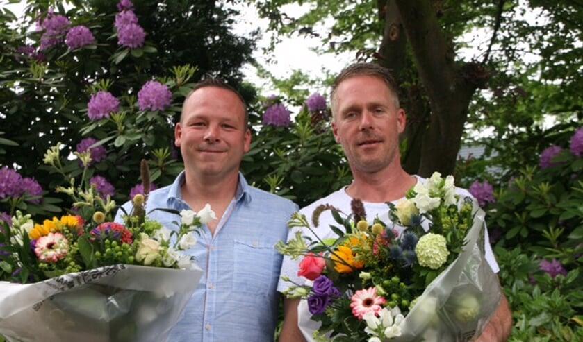 Richard van den Berg (links) en Mike Slagter. Foto: PR