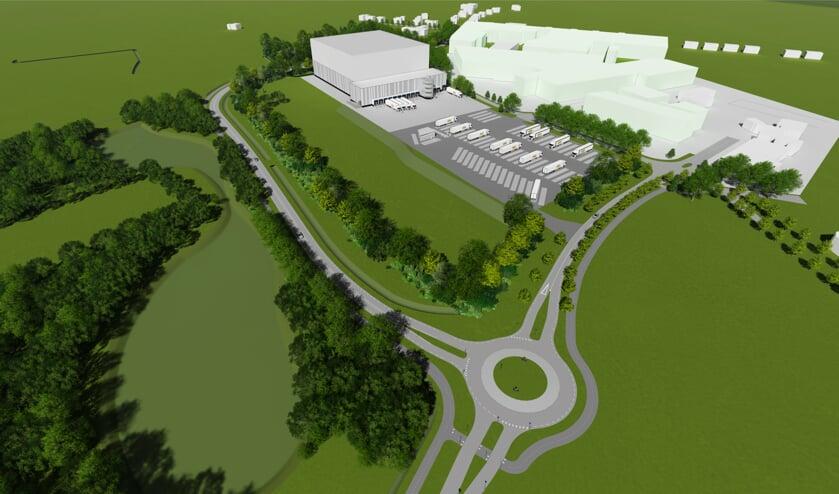 Artist-impression van het toekomstige Aviko-terrein. Afbeelding: Aviko