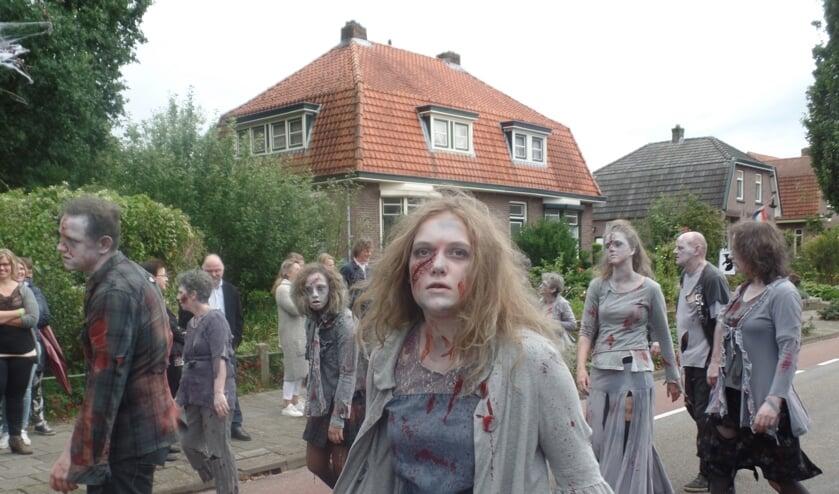 Uitermate sterk was de figuratie van de winnende groep met als thema 'Thriller'. Foto: Jan Hendriksen.