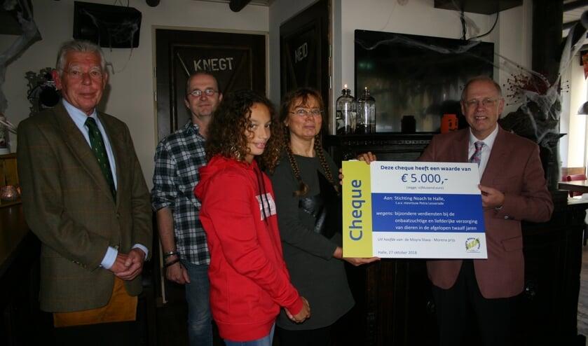 De prijs werd in De Woage in ontvangst genomen. Foto: PR