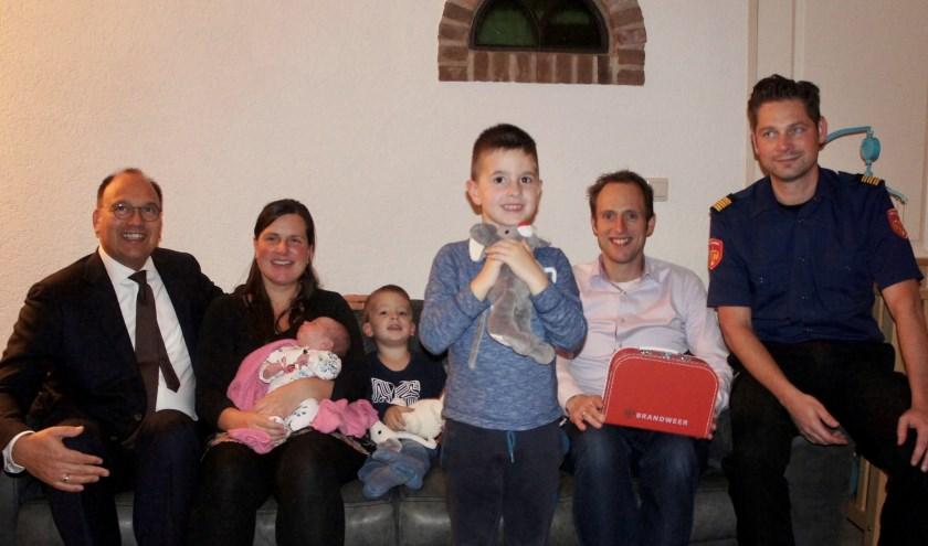 Peter de Baat, Linda Boomkamp met Feline, Jidde, Thije, Thijs Boomkamp en Remco ten Raa. Foto: Susan Wiendels