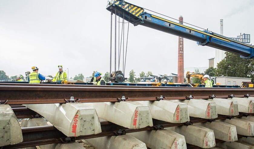 Werk aan het spoor. Foto: Burry van den Brink