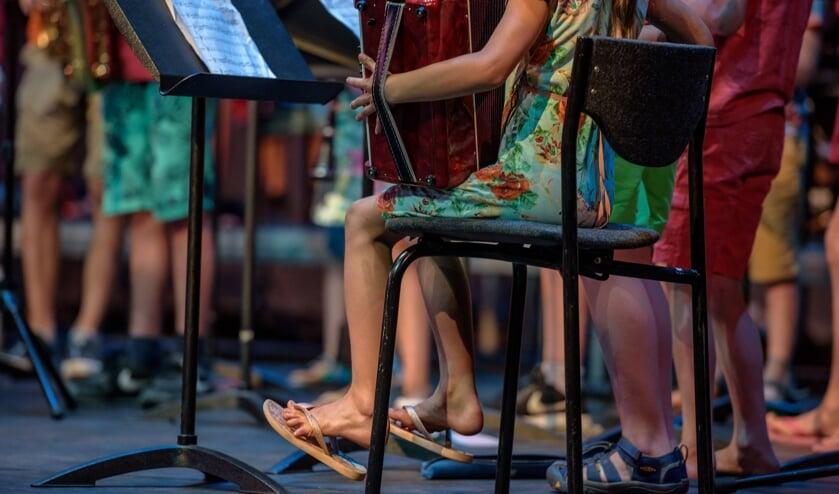 Samen muziek maken. Foto: Marije van den Berg