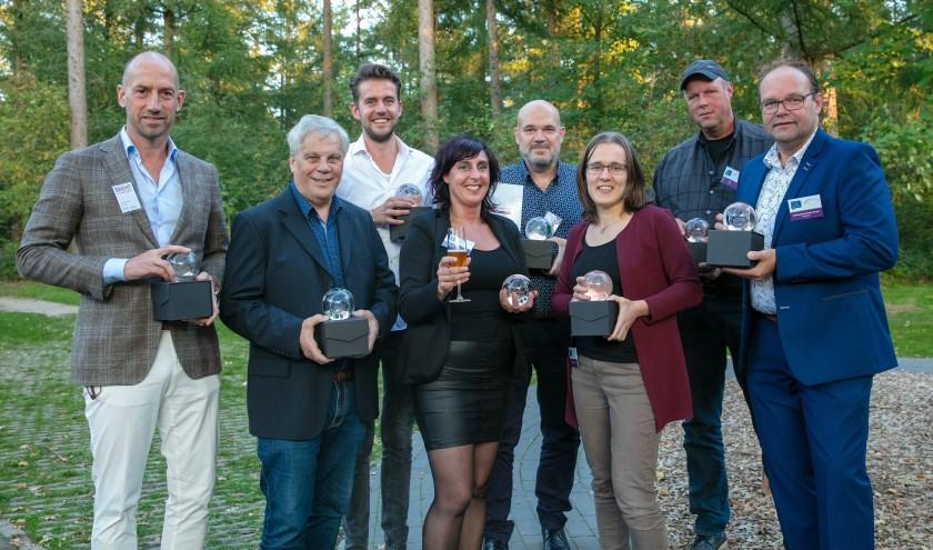 De winnaars van de Naober-Boost-award op een rij (Hartemink ontbreekt). Foto: Guido Bogert Fotografie
