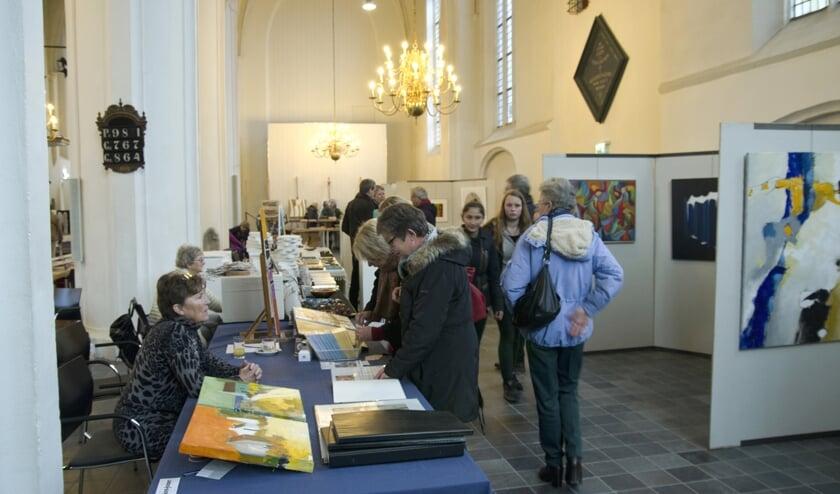 Kunst in de Kerk van leden van Het Web. Foto: PR