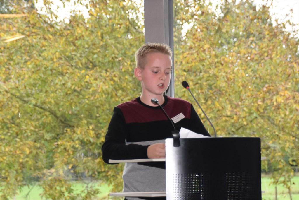 Kjeld tijdens zijn pitch. Foto: Alice Rouwhorst  © Achterhoek Nieuws b.v.