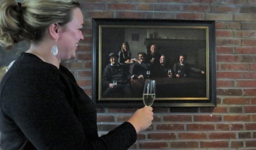 Een van de eyecatchers op de expositie was 'Achterhoekse gemoedelijkheid' van Josine Breukink. Foto: Josée Gruwel