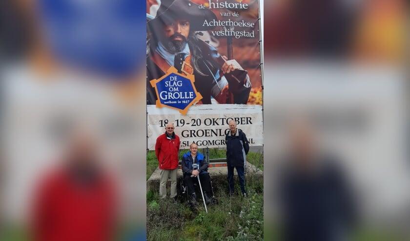 Vlnr: Theo Bloemenkamp, Wilfried Klein Avink en Ton Goossens van BOOG.