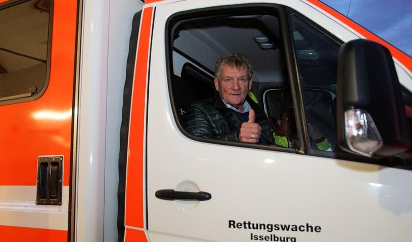 Freek Diersen in de ambulance. Foto: Frank Vinkenvleugel