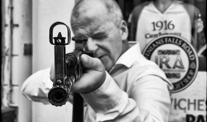 Een foto van Gregory Herpe, van een IRA-strijder. Foto: Gregory Herpe