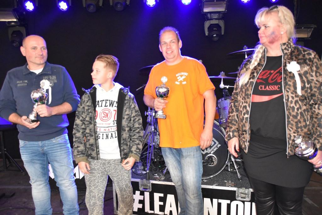 De winnaars op een rij. Tweede van links is Jeroen Schiphorst, jeugdkoning 2019. Foto: Alice Rouwhorst  © Achterhoek Nieuws b.v.