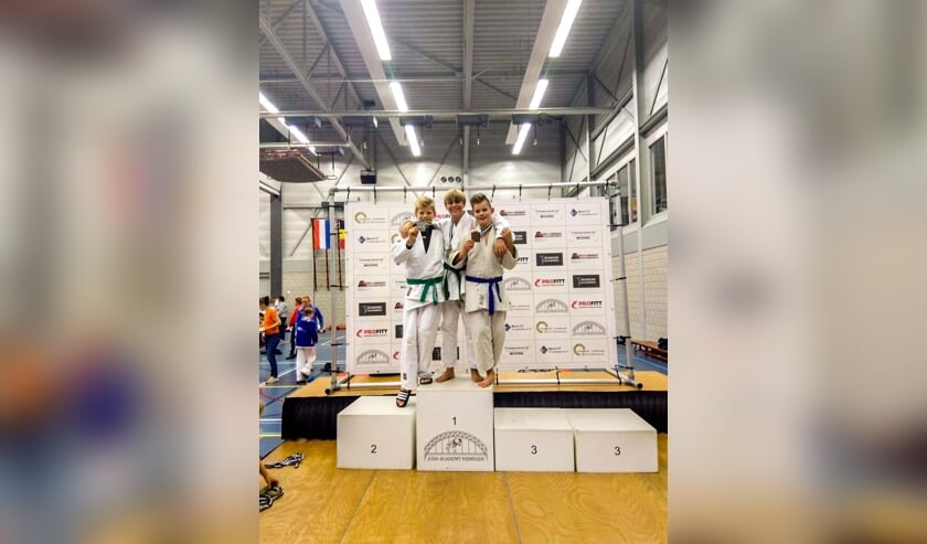 Judoka Olivier Bloemendaal behaalt goud in Nijmegen. Foto: Sander Bloemendaal