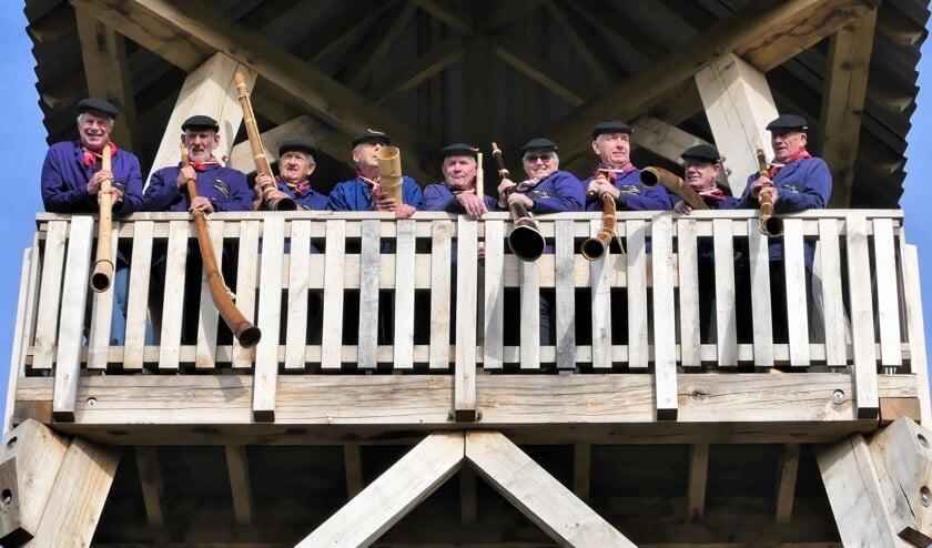De Needse Midwinterhoornblaozers. Foto: Sonja Schmidhamer
