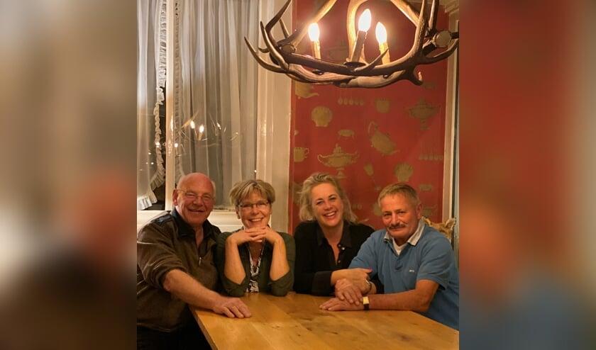 Het Vordense Slipjachtcomité: v.l.n.r. Appie Noordkamp, Tony Koning, Liesbeth Geubels en Albert Mulderije. Foto: PR