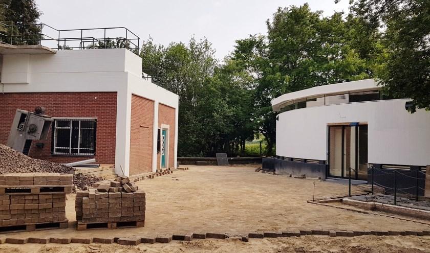 Het nieuwe bezoekerscentrum van natuurpark Kronenkamp. Foto: JdW Studios