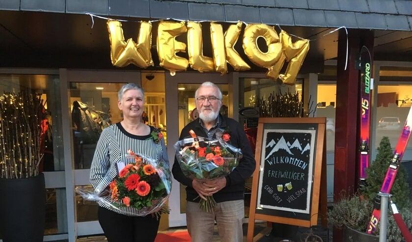 Mevrouw Peek en de heer Te Molder zijn al 12,5 jaar vrijwilliger bij De Molenberg. Foto: Judith Kroes