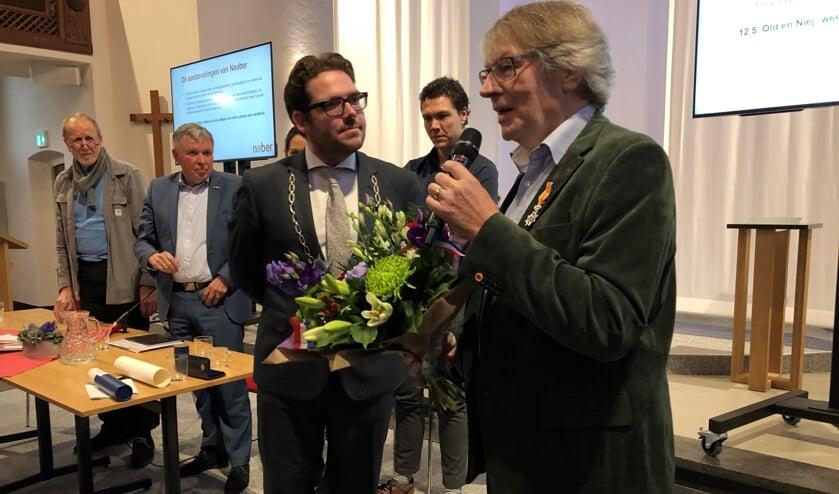 Arie Ribbers tijdens zijn dankwoord. Foto: Miriam Szalata