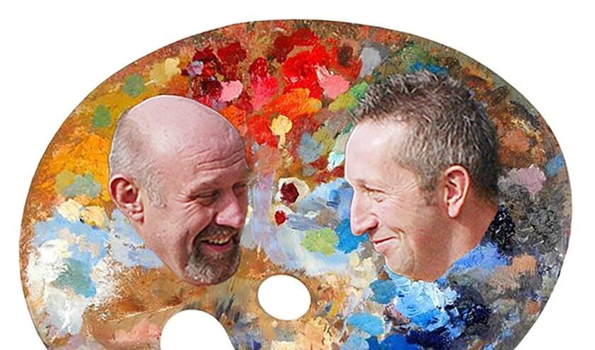 Gerard te Hennepe (links) en Leo Korten behandelen in hun nieuwe programma 'Het kleurenpalet van het leven'. Foto: PR