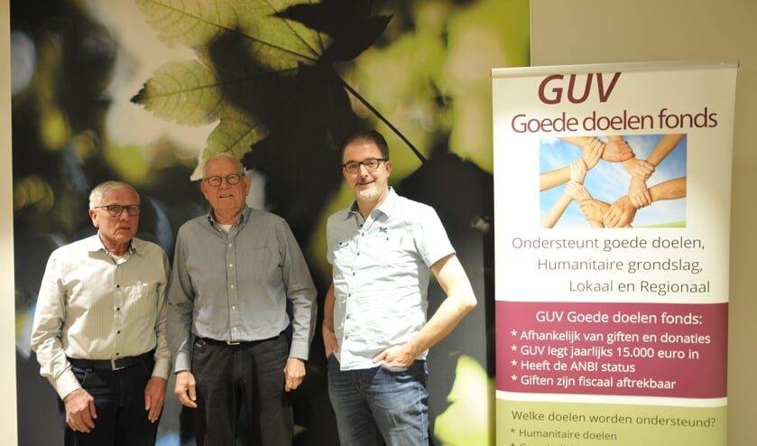 Het bestuur van het GGDF, van links af penningmeester Gerrit Bultman, secretaris Theo Teunissen en voorzitter Marco van Lochem. Foto: PR