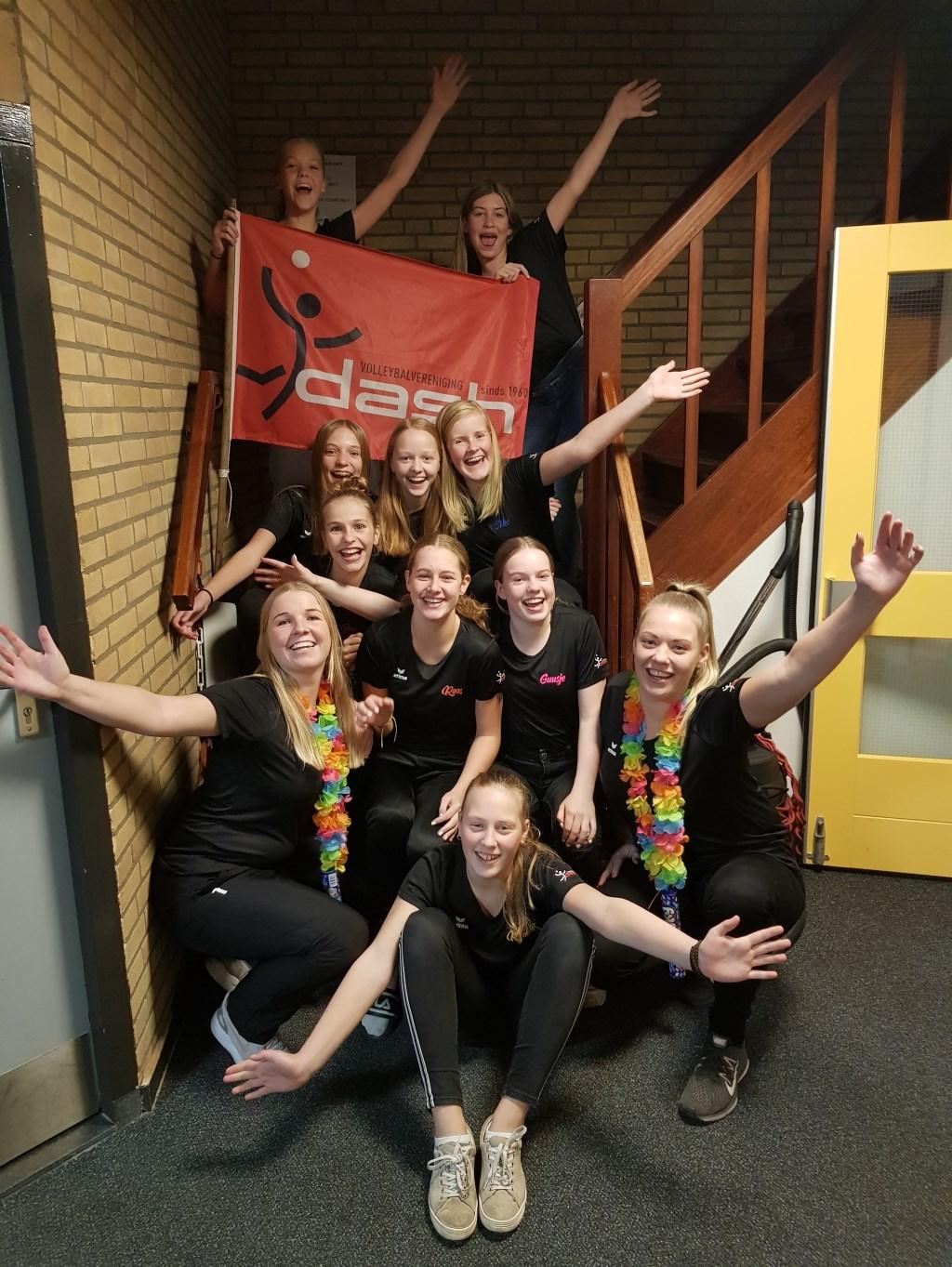 Volleybalvereniging Dash, de MC1 die nu al kampioen is. Foto: Thea Valster  © Achterhoek Nieuws b.v.