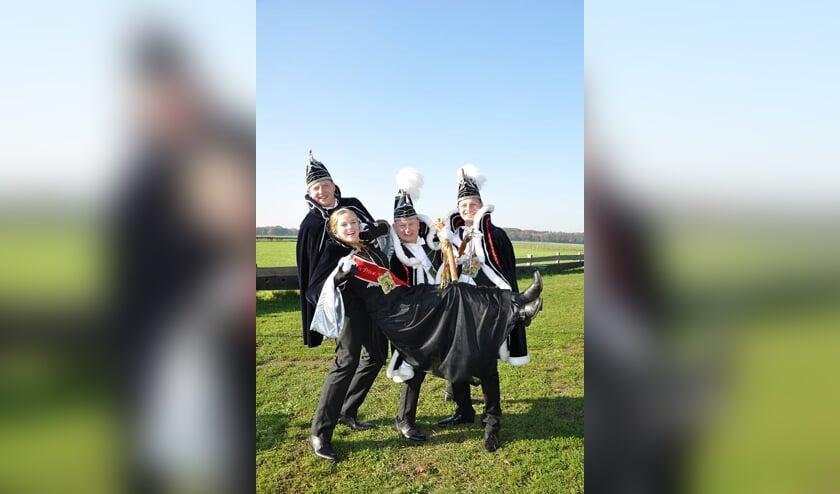 De hoogheden van cgv De Vlearmuze kijken uit naar hun jaar in functie. Foto: Sandra Baas