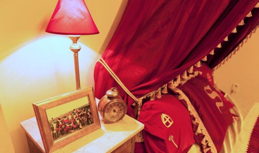 Sinterklaas logeert in een speciaal voor hem ingerichte kamer in de Antoniushove.