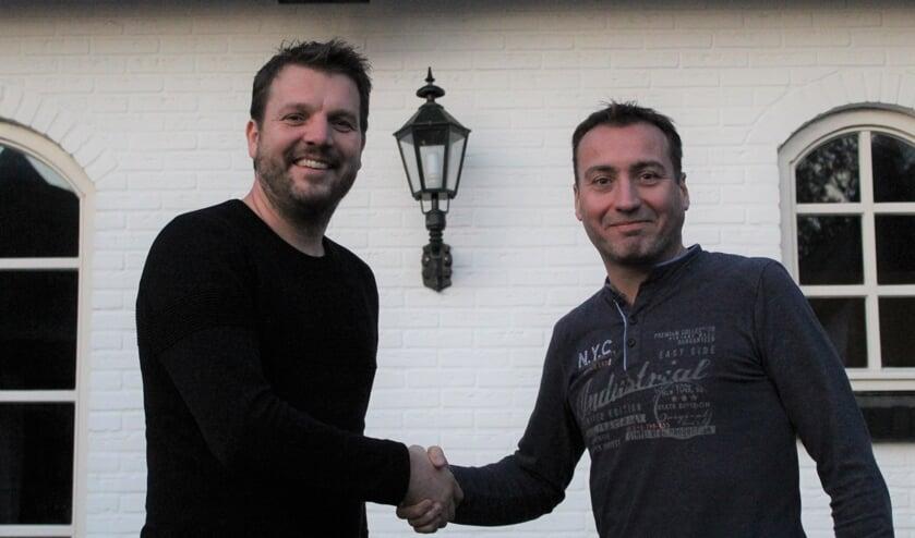 Ward van der Reijden met Herald Derksen. Foto: PR