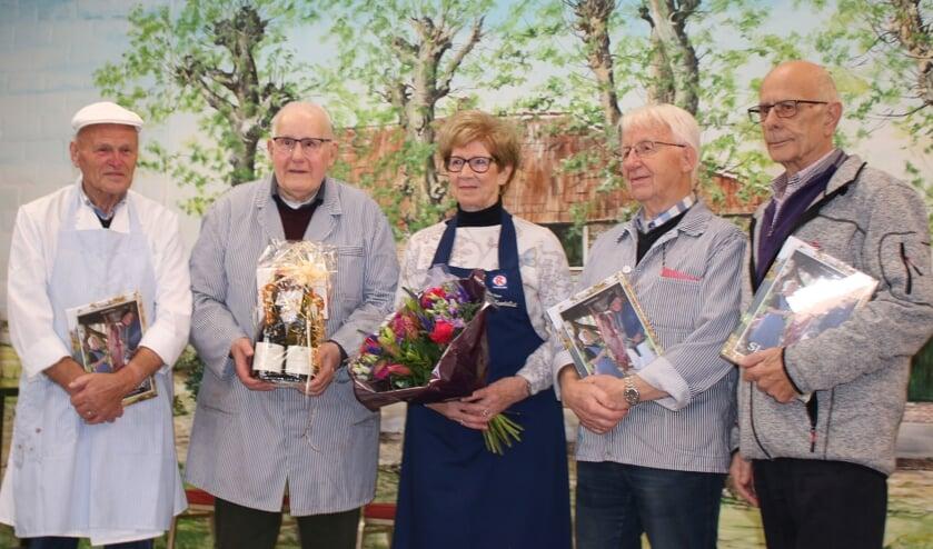 v.l.n.r. Arnold Bergevoet, Fred en Ans Rosendahl, Wim Schuurman en Peter van Ahlen. Foto: Betsy Maatkamp