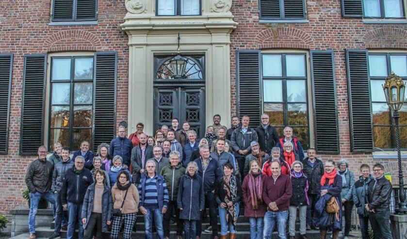 Leden van ondernemersvereniging De SOV bij Kasteel Rosendael. Foto: PR