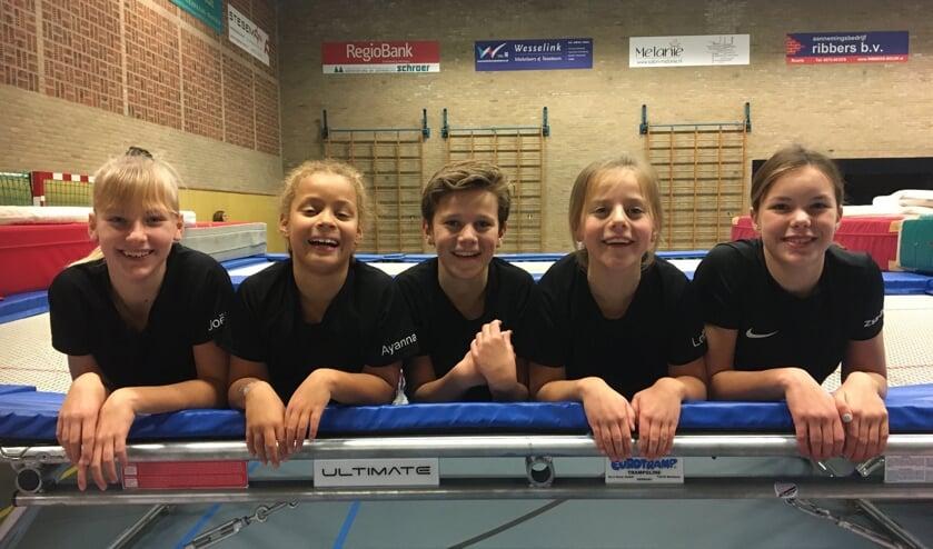 RGV 4 is een van de Ruurlose trampolineteams die mogen meedoen aan de Nederlandse kampioenschappen.  Foto: PR