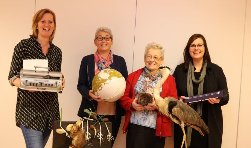 V.l.n.r. Hester Boll, Jenny Huijbregts, Maria Verschuuren  en ICT-er Maria Davelaar. Foto: Arjen Dieperink