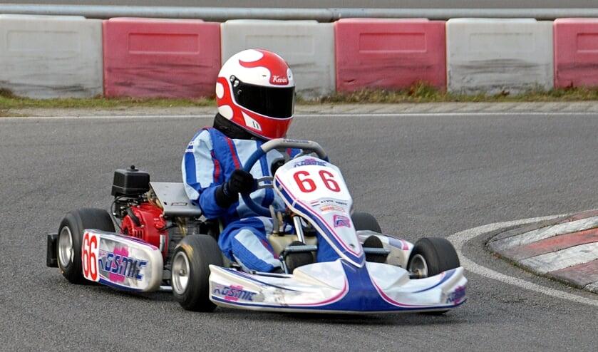 Kevin Navis Nederlands Kampioen kartenin een Honda Cadet 160 cc klasse. Foto: Jack Amels Fotografie