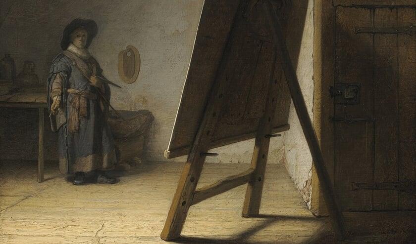 Rembrandt in zijn atelier. Foto: PR