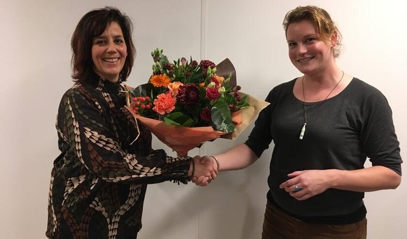 Jolanda Cornegoor (l) neemt de taken van oprichtster van ZZP Zutphen Berdi Hissink over. Foto: PR