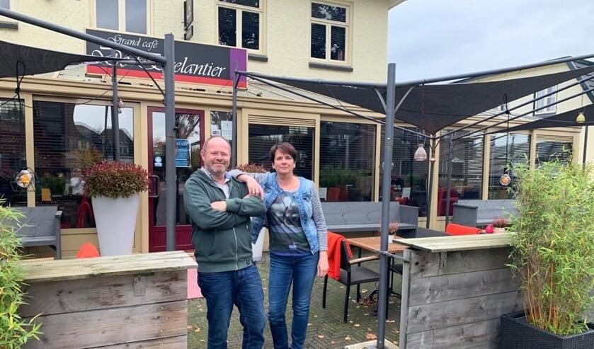 Initiatiefnemers van het lokale bandjesfestival Boudewijn Wolbert en Marian Ritzer. Foto: Ellen Somsen