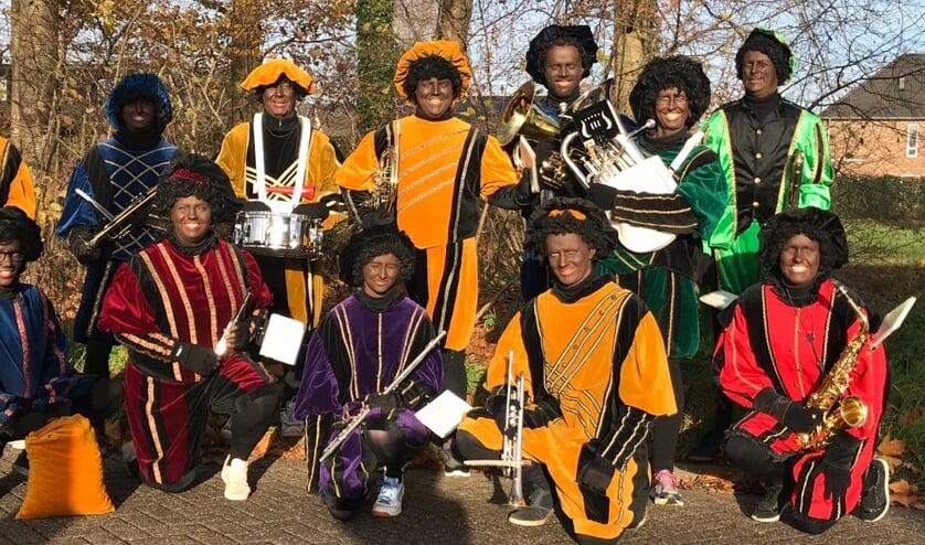 Muziekpieten mogen instrumenten lenen van Crescendo Hengelo. Foto: PR