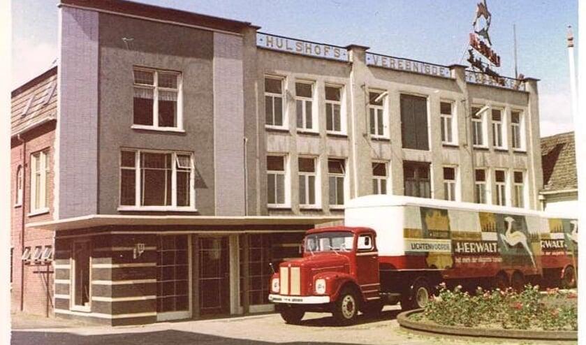 De fabriek van Hulshof Lederwaren in 1962. Foto: archief Vereniging voor Oudheidkunde Lichtenvoorde