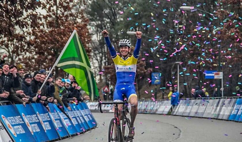 Ben Minkhorst wordt hier Nederlands kampioen. Foto: PR
